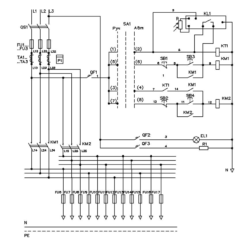 Электрическая схема ШНО-01
