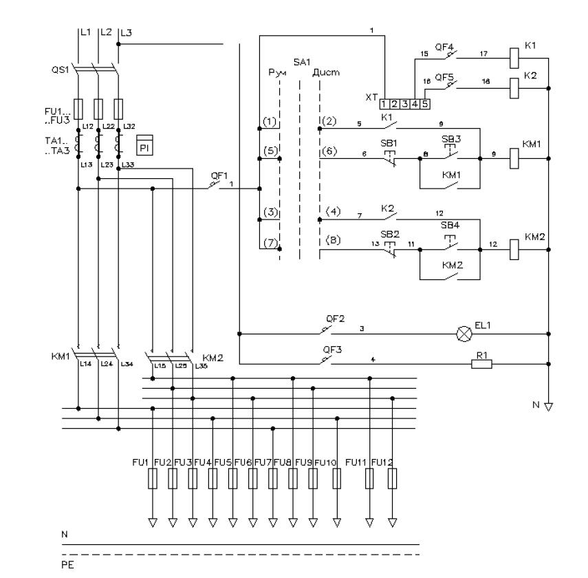 Элетрическая схема ШНО-02