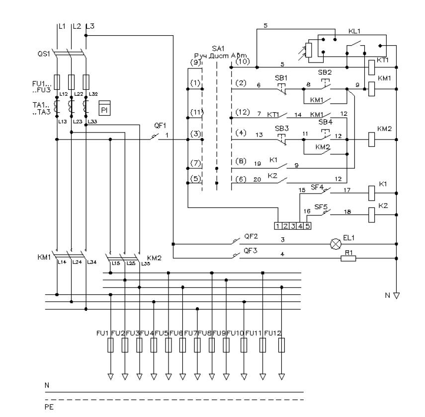 Элетрическая схема ШНО-03