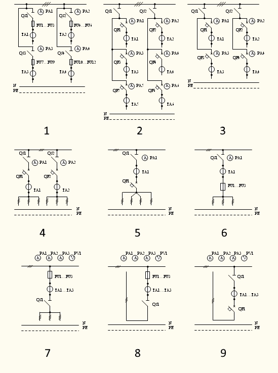 Схема панелей ЩО-70
