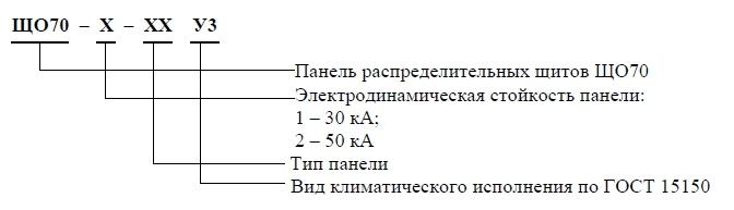 Расшифровка условного обозначения ЩО-70
