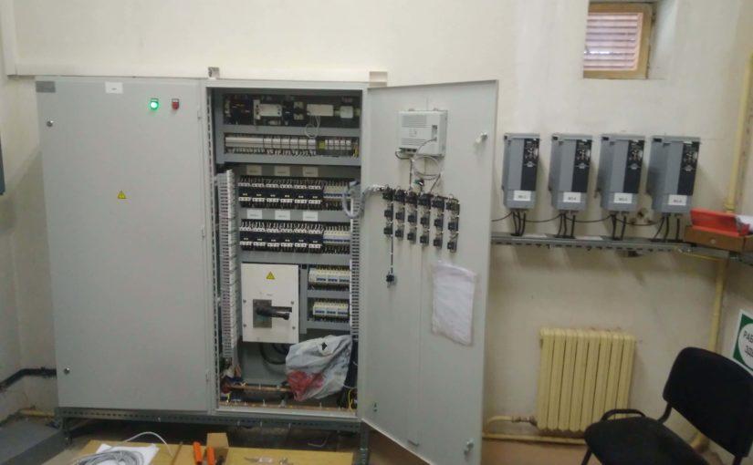 Спроектирована, собрана и налажена система управления насосными станциями